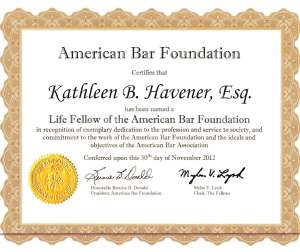 I'm delighted to have become a Life Fellow of the American Bar Foundation.